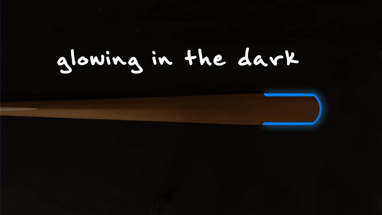 glowing in the dark greenland kayak paddle
